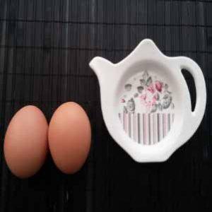 İki adet yumurta ve çaydanlık görseli.