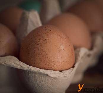 Resimdeki yumurtalar, buzdolabında saklama koşulları yazısının görseli.