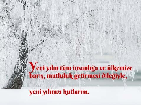 Türkiye için Yılbaşı Mesajı.