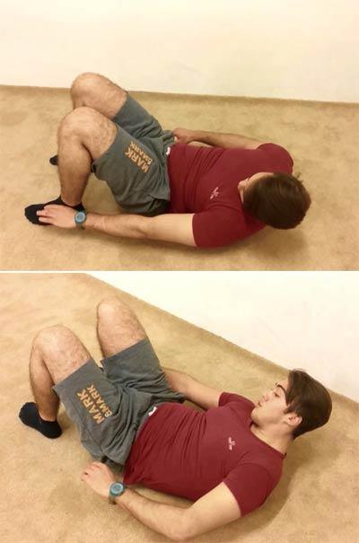 Bel kalça karın egzersizleri - Alt karın kasları için mekik hareketi