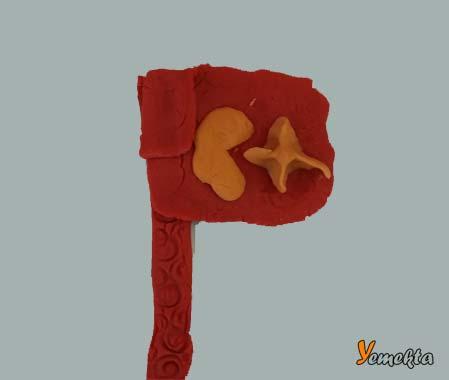 Oyun hamuru ile yapılan şekiller görseller - Türk bayrağı.