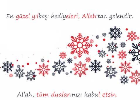 Yeni yıl mesajları yazısı için kullanılan resimde, yılbaşı mesajı var.