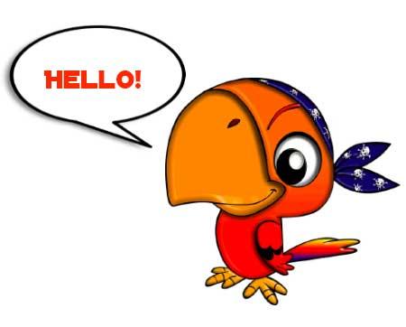 Çocuğuma İngilizce nasıl öğretebilirim İngilizceyi nasıl sevdiririm konusu için kullanılan resimde, söyleneni tekrar eden bir papağan görseli var.