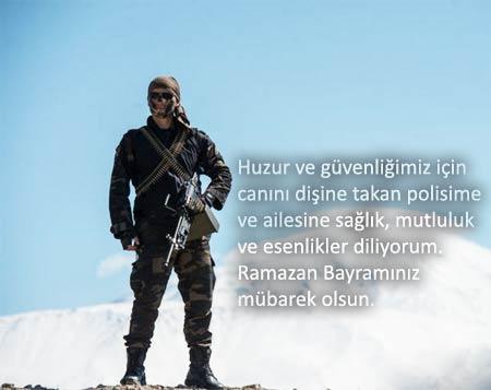 Kahraman polis ve askerlerimiz için resimli Ramazan Bayramı mesajları.