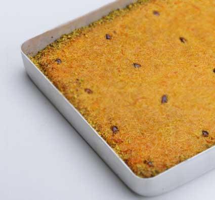 Sahurda tok tutan yiyecekler içerisinde yer almayan kadayıf tatlısı görseli..