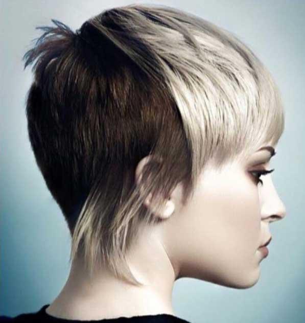 Kısa saç modelleri - Punk rock tarzı kadın saçı görseli.