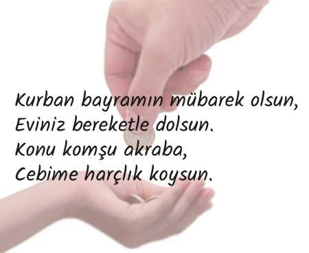 Kurban Bayramı mesajları - Çocukların büyüklere gönderebileceği İslam dinine ait güzel bir söz görseli.