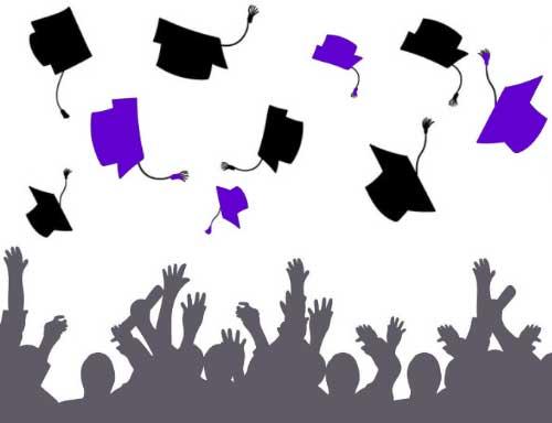 YKS Bilgi Edinme YÖK iletişim YÖK Telefon - Resimde sınavı geçip üniversiteyi kazanmış başarılı öğrenciler, mezuniyet töreni yapıyorlar.