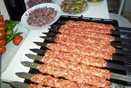 Akdeniz Bölgesi Yemek Kültürü - Adana Kebap ve Soğan Salatası.