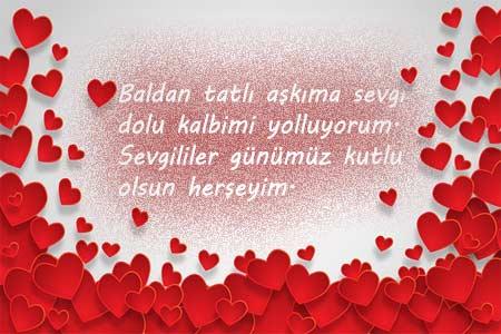 Sevgiliye Güzel Sözler - Görselde, sevgililer için resimli güzel bir aşk mesajı var.