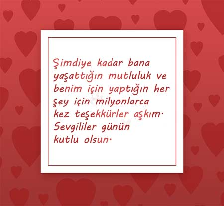 Sevgiliye Güzel Sözler - Resimde, sevgililer için güzel bir aşk mesajı var.